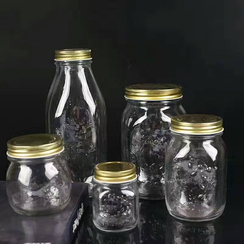 Linlang hot sale glassware products custom made embossed mason jar