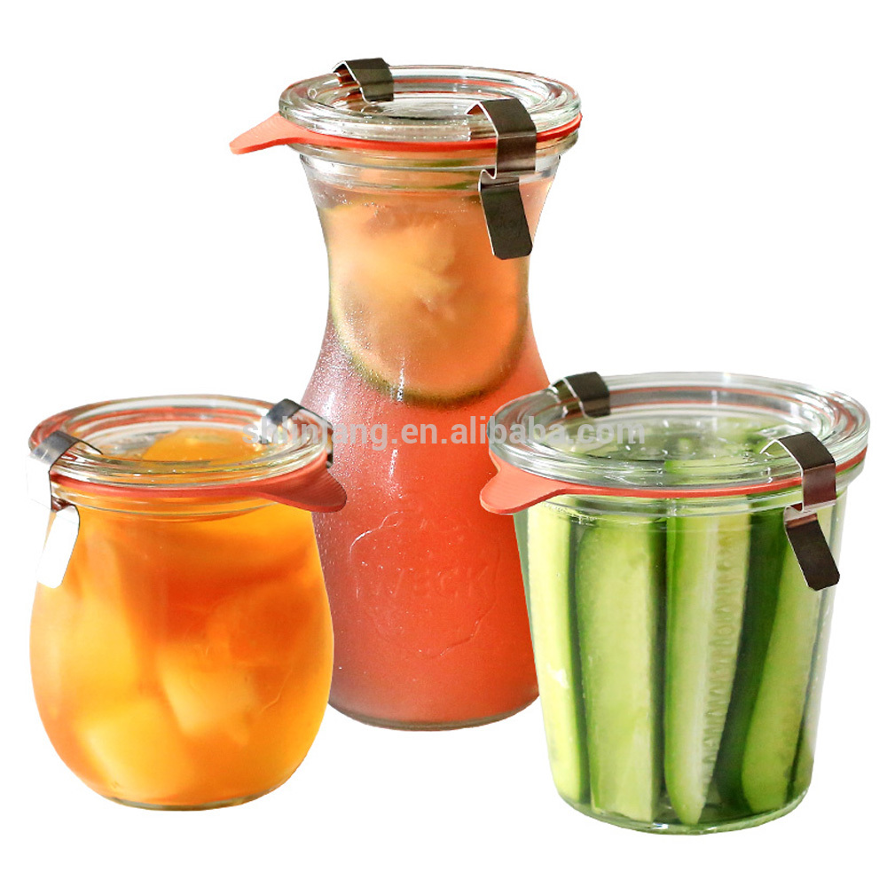 Free Shipping Food Grade Storage Bottle Glass Jars For health care products fresh pot