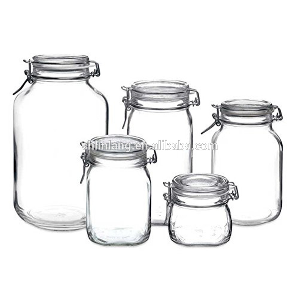 Linlang hot welcomed glass products glass storage jar