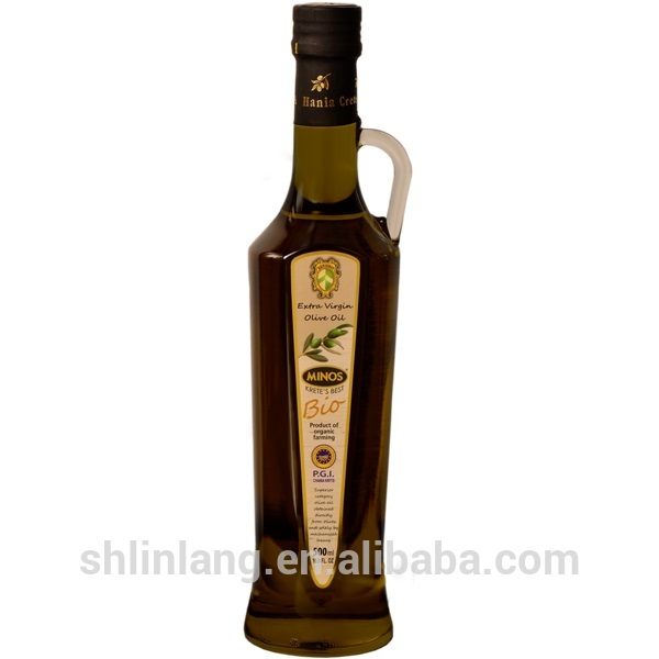 Shanghai linlang 500ml New Renieris Jar empty bottle for olive oil with holder