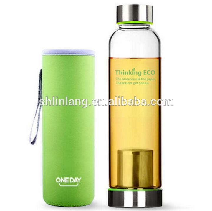Linlang hot sale glass products tea bottle