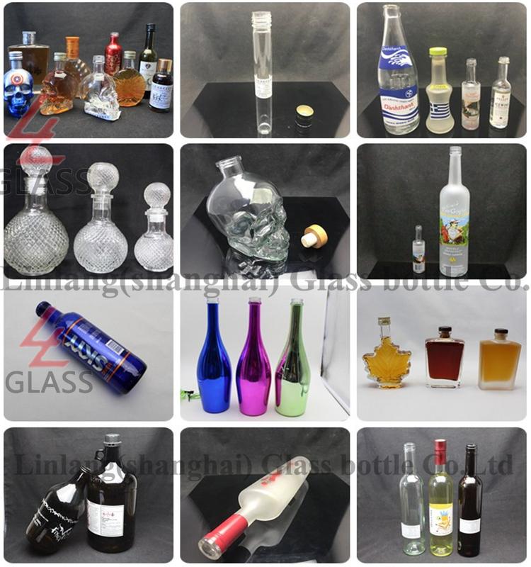 Heavy Weight Crystal Glass Liquor Gin Bottle