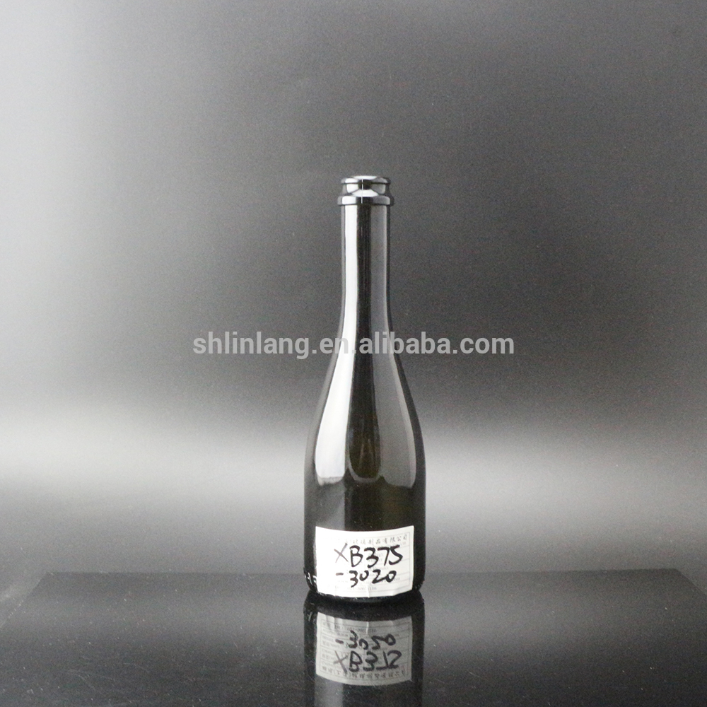 Shanghai Linlang wholesale Empty Glass Champagne Bottle 375ml Sparkling Bottle