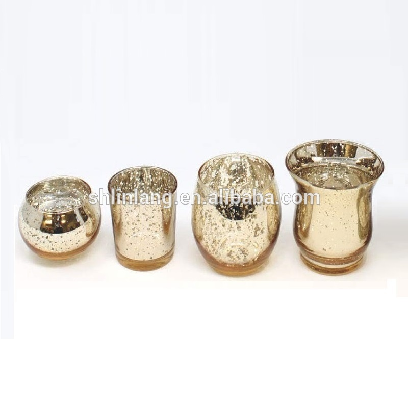 China Shanghai Linlang Wholesale Different Size Bulk Gold Mercury Glass Votive Candle Holders Manufacturer And Supplier Linlang