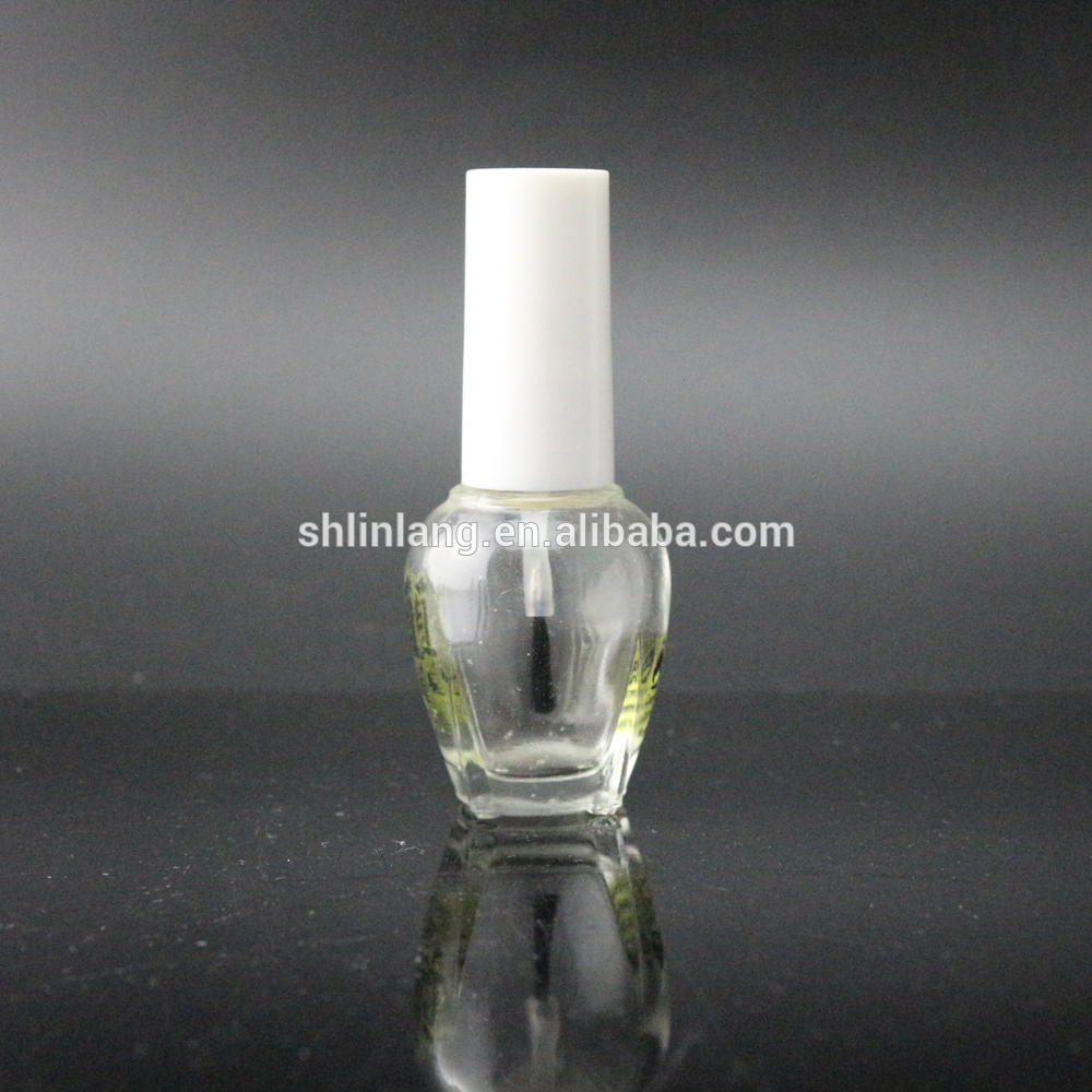 shanghai linlang High Quality White Cap msumari Kipolishi Bottle na Brashi na Cap