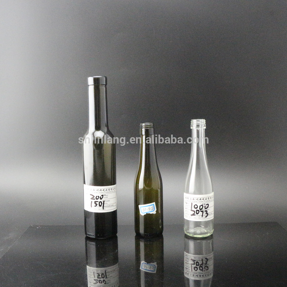 Shanghai Linlang wholesale Samples size Bordeaux and Rhine style glass wine bottle