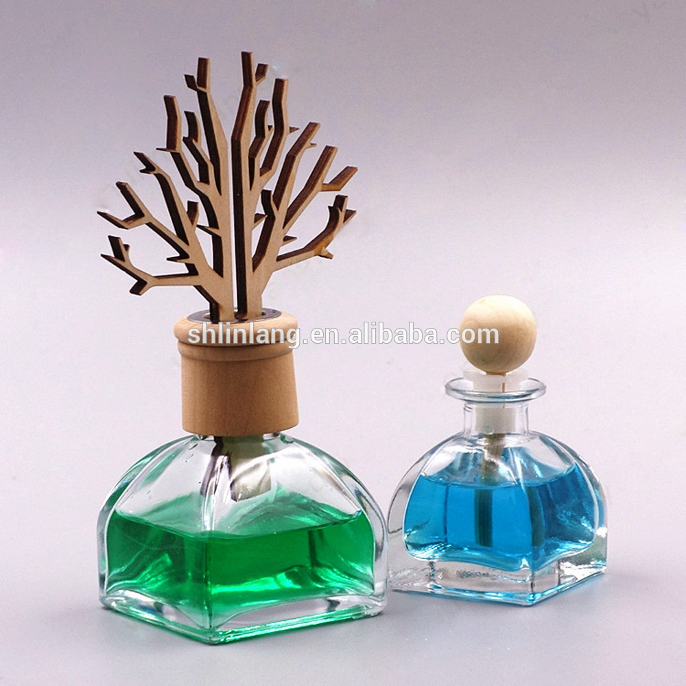alibaba shanghai china linlang 100ml 200ml Fragrance Home Reed tryledwr Glass Cork Bottle