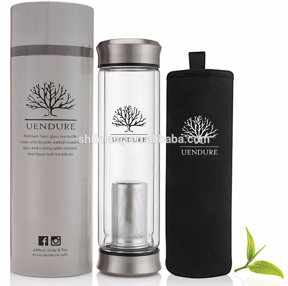 Linlang hot sale glass products tea infuser bottle