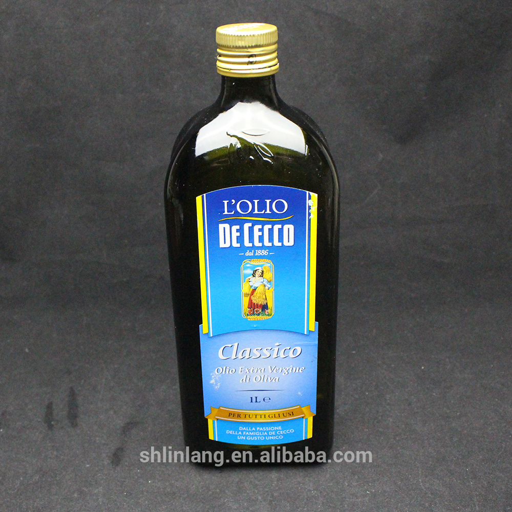 Shanghai linlang manufacture 1L big capacity olive oil bottle