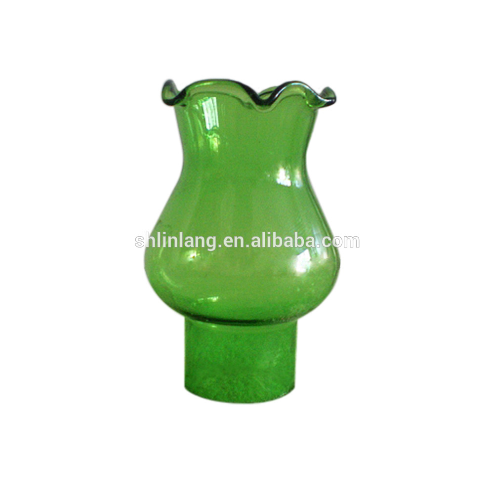 Classical Colored Green glass oil lamp
