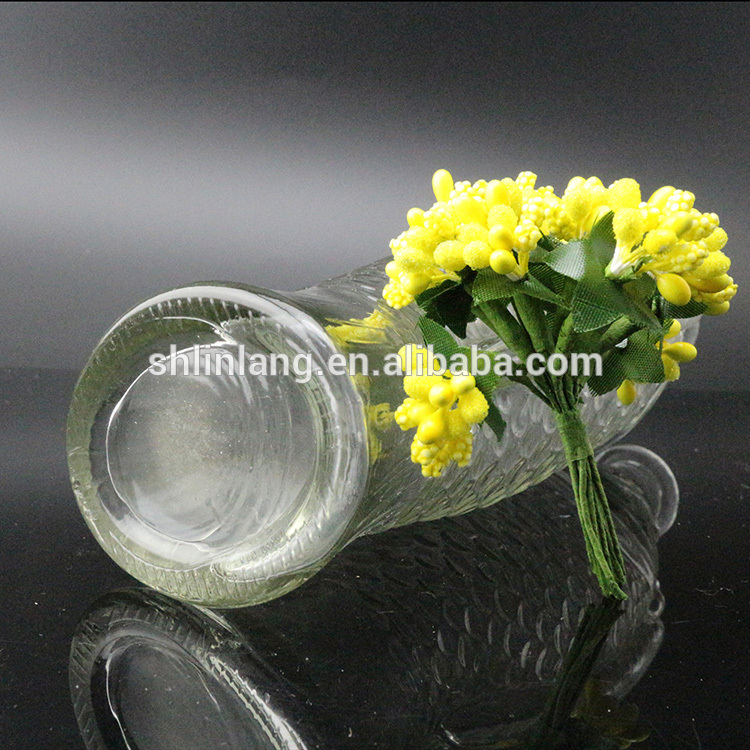 Fancy Clear Fish Shaped glass vase Shaped For Decoration
