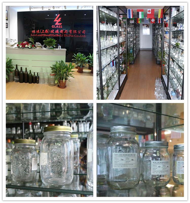 Linlang factory hot sale glass products glass mason jar 210ml
