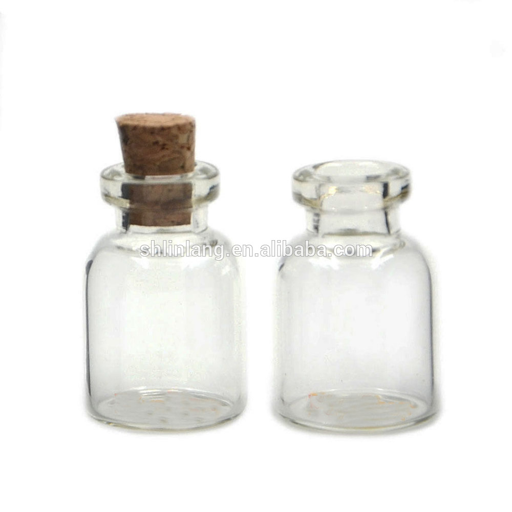 0.5/1/2/5ML Mini Small Cork Stopper 10ML Glass Vial Jars Containers Bottle Wholesale