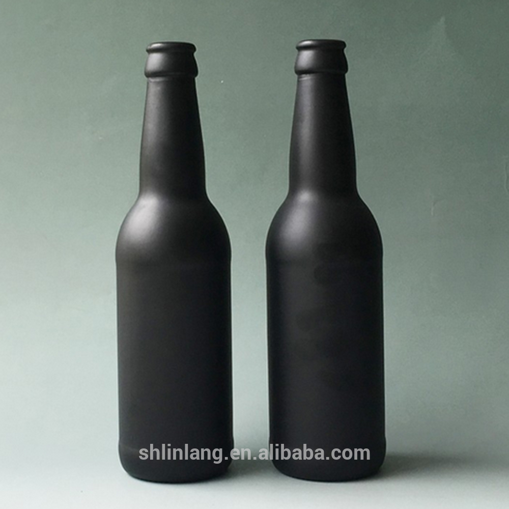 Shanghai linlang Hotsale Health Food Grade black beer bottle