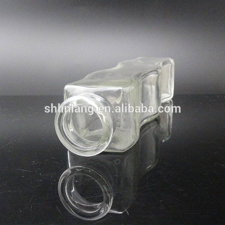 Water wave shape glass vase for house decoration