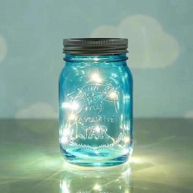 Linlang Shanghai Factory 480ml sun jar with led light