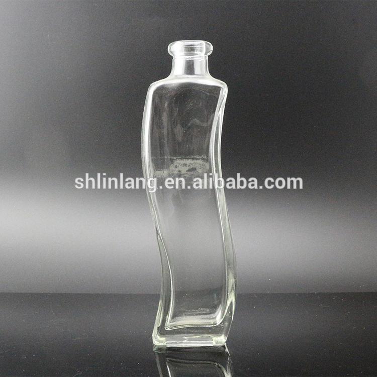 wave shape glass vase for decoration