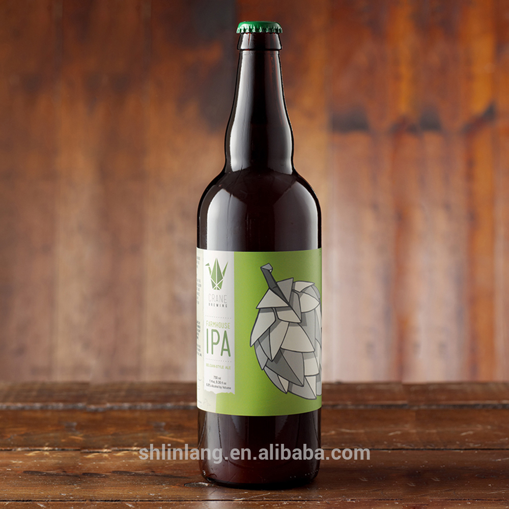Shanghai linlang Hotsale Health Food Grade 750ml beer bottle