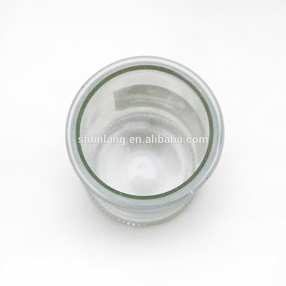 hot selling clear glass cylindrical tealight candle holder
