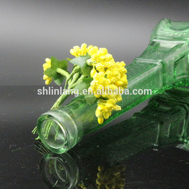 Wholesale Clear green Color glass Eiffel Tower Vase For Decoration