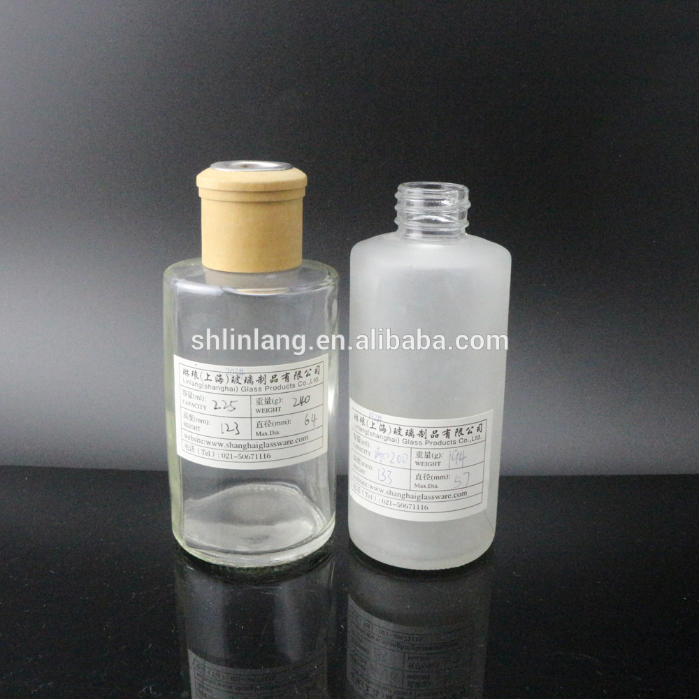 shanghai linlang OEM 150ml aroma reed diffuser glass bottle