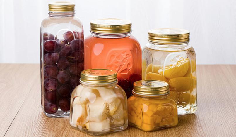 Glass bottle manufacture Customize mason jar, food storage jar 300ml,500ml,800ml,1L,1.5L