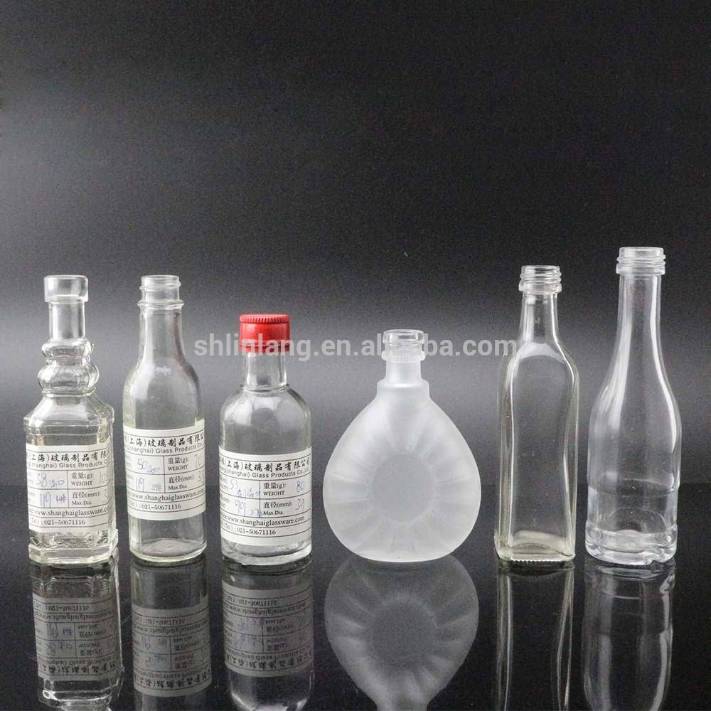 Shanghai Linlang wholesale samples size 50ml wine bottle