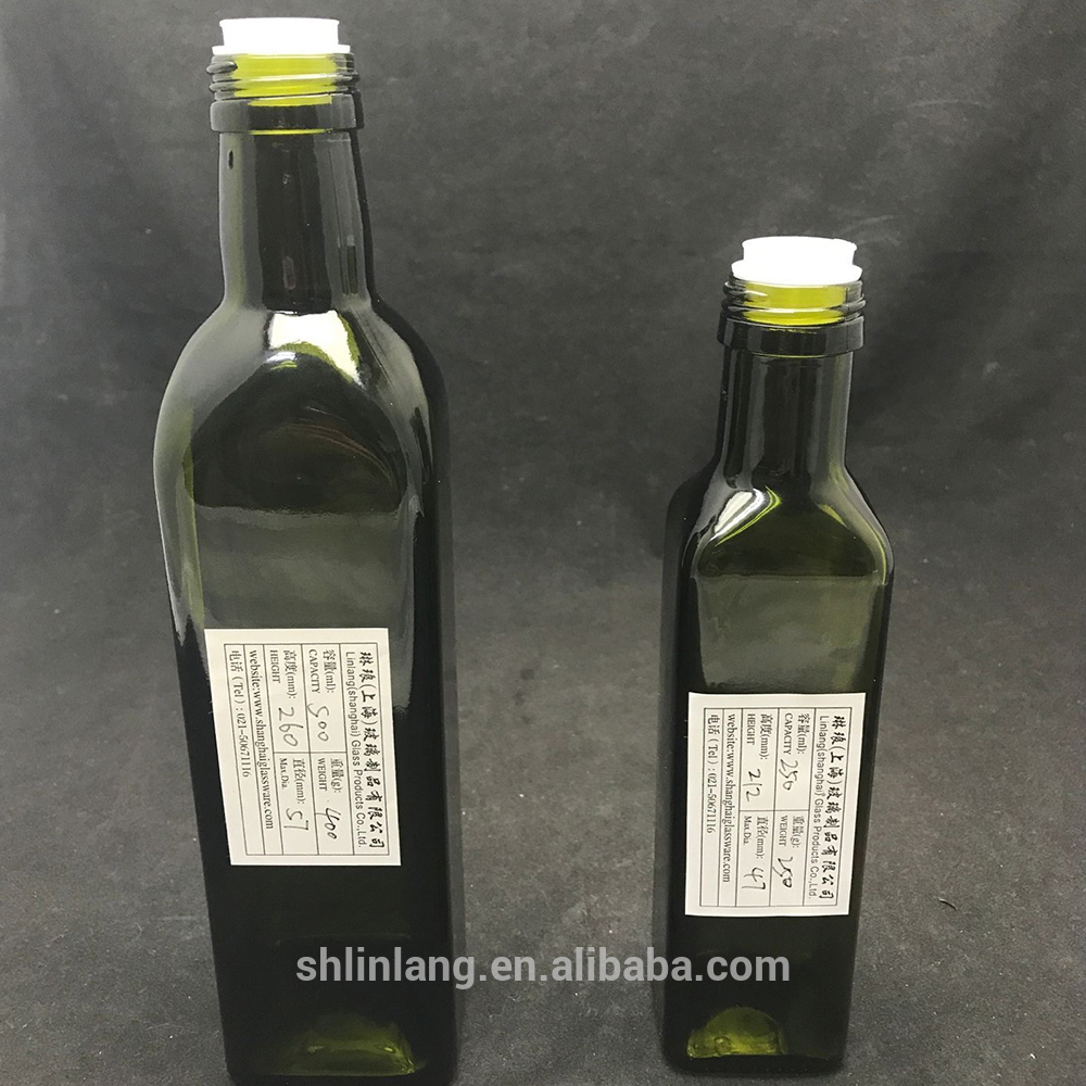 Shanghai linlang Manufacture Marasca Glass Bottles 500ml Olive Oil 750ml 1L