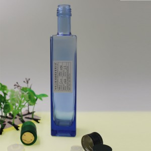 Light Blue 250ml 500ml 750ml Olive Oil Glass Bottle Container