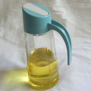 Olive Oil Glass Bottle Auto flip dispenser kitchen vinegar Cruet Jar