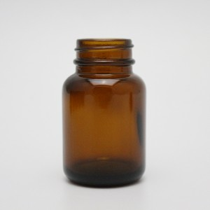 Shanghai linlang 60cc apothecary amber glass supplement bottle