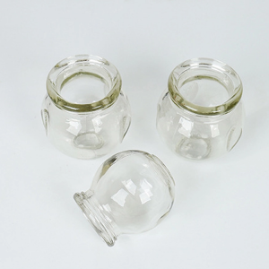 Thickened explosion-proof glass cupping cups apparatus no. 4 no. 5 large size 16pcs domestic fire therapy pot back