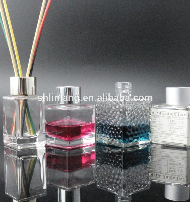 Square Glass Reed Diffuser Bottle 100ml Empty