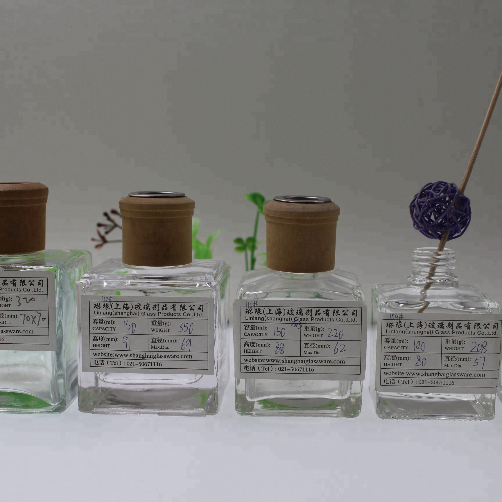Wholesale reed wooden cap 100ml diffuser bottle 50ml 150ml 125ml 200ml