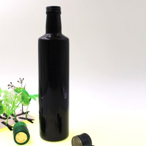 Wholesale Black Container Cylindrical Glass Olive Oil Bottle