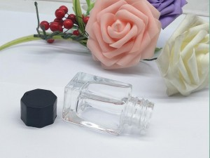 Wholesale Custom Square 30ml Empty Glass fountain pen ink bottle glass bottles for ink