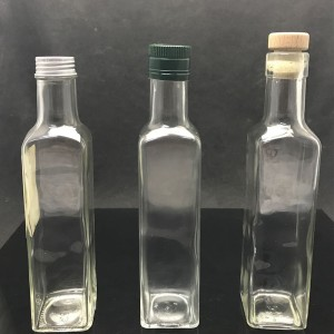 Wholesale Empty Square Olive Oil Glass Bottle