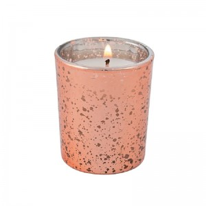 Wholesale Linlang Rose Gold Mercury Glass Candle Holder For Votives Wedding Decoration