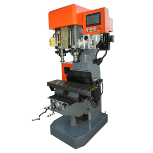 dual spindle servo control drilling tapping machine(screw rod feeding)