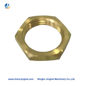 Cnc brass lathe turning part-thin nut