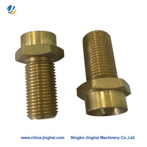 Online Exporter Custom Cnc Machining Parts - Cnc brass lathe turning part-Screw – Jinghai