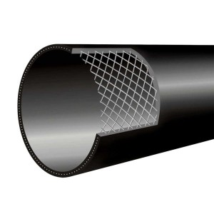 HDPE steel wire mesh frame composite pipe