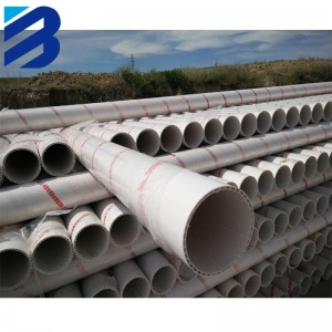 PVC-U hollow spiral silencing pipe