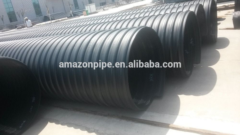 China High Ranking Sewage Plant Corrugated Hdpe Pipe