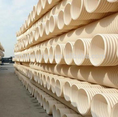 Low cost pvc drainage pipe pvc-u double wall corrugated pipe for drainage system