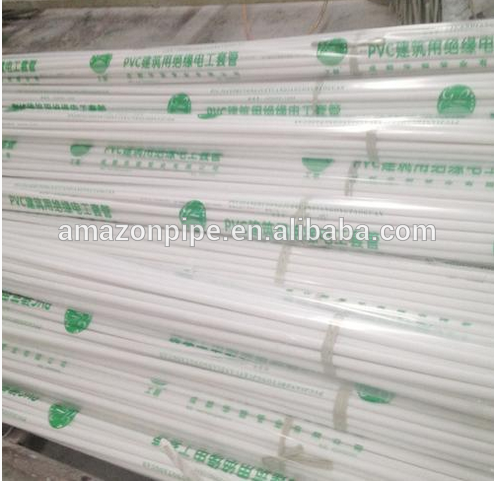 Dn25mm White Color Pvc Electrical Pipe For Conduit Wiring Factory And Suppliers Baishitong