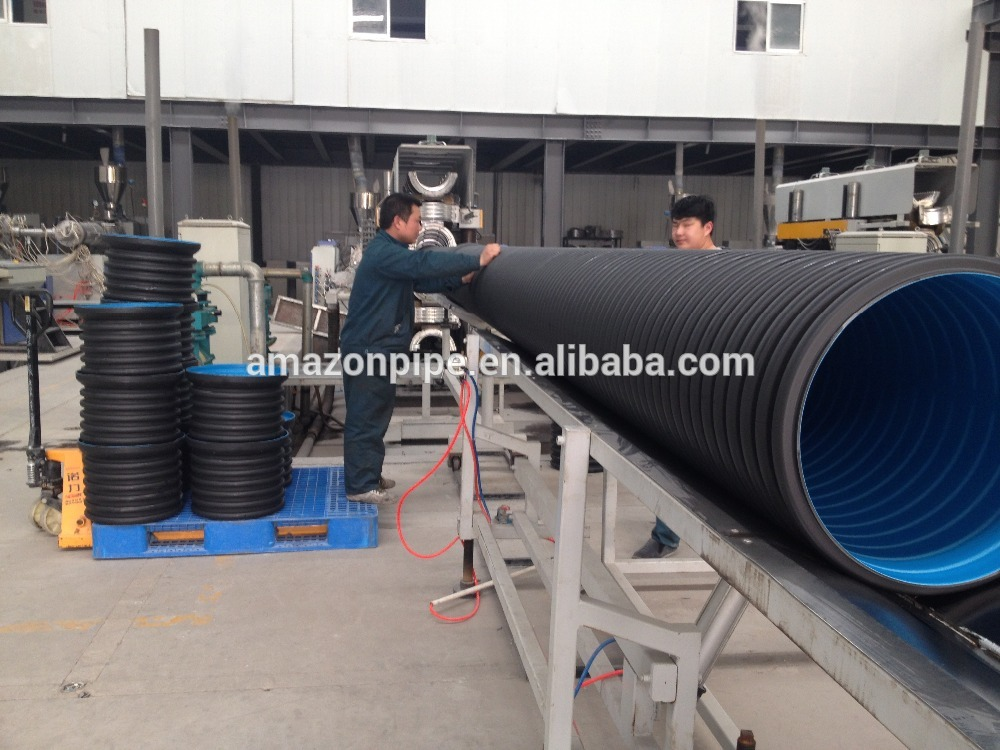 Sn4 Sn8 Pe Corrugated Subsoil Drainage Pipe Factory And