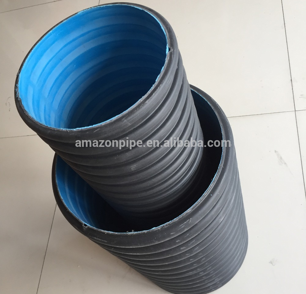 Black Double Wall Hdpe Corrugated Drainage Pipe Machine