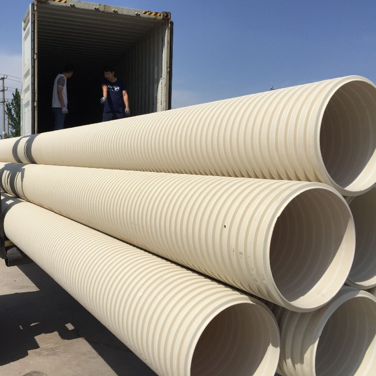 100mm 150mm plastic corrugated pipe HDPE PVC draiange pipe price