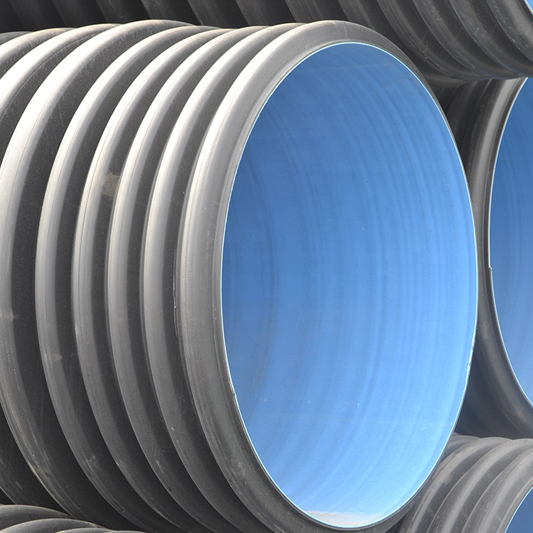 Hot sell hdpe double wall corrugated pipes price list factory and